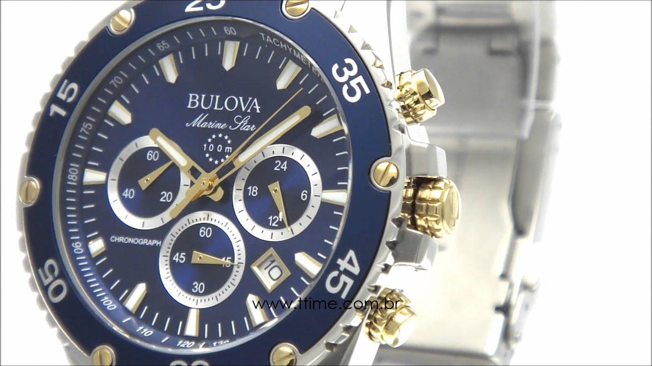 0ea8b76367b Relógio Bulova Marine Star WB30686A - YouTube