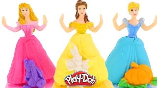 Prettiest Princess Play Doh Dresses - Disney Play-Doh Cinderella, Rapunzel, Belle