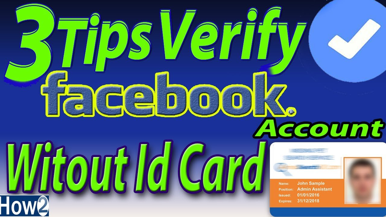 3 Tips to Verify facebook Account without id card in urdu hindi