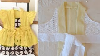 Latest ,simple and easy to make frock for 2 year baby girl cutting stitching