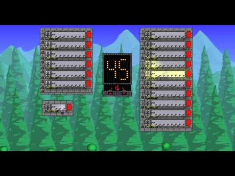 Terraria: 1 minute in-game timer with display (counts up and down)