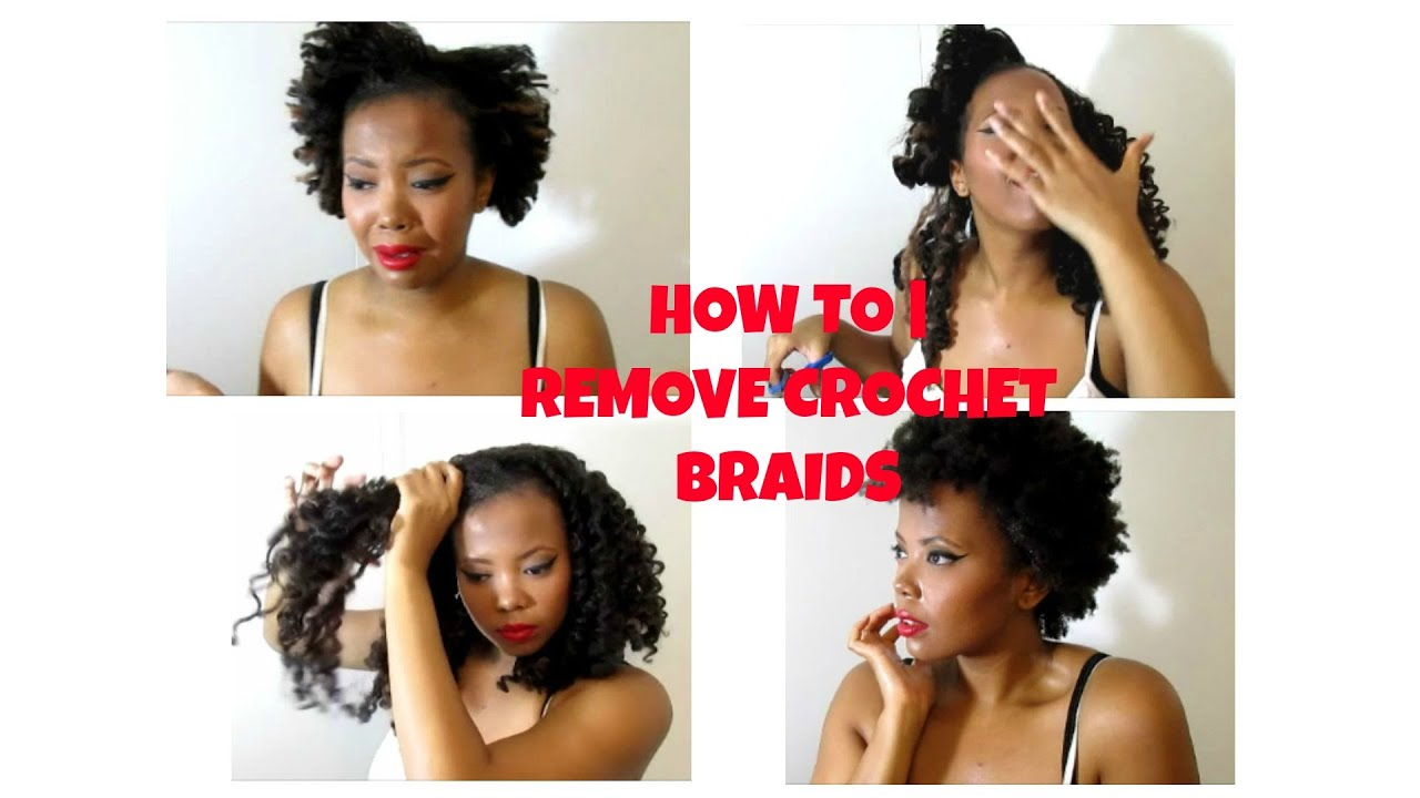 HOW TO REMOVE CROCHET BRAIDS (CUT, ACV CLARIFY & CONDITION METHOD ...