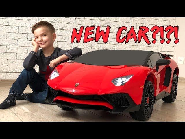 Заказал новую машинку Ламборгини и увеличил ее пультом. Видео для детей.