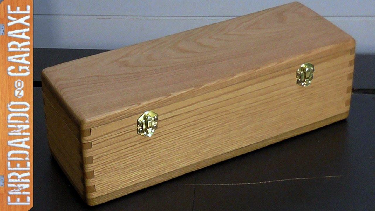 C mo hacer una caja con tapa y uniones de lazos rectos for Caja madera con tapa