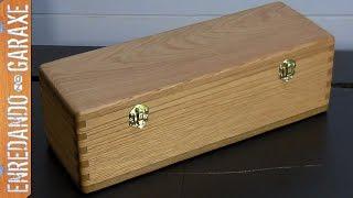 Cómo hacer una caja con tapa y uniones de lazos rectos