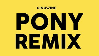 GINUWINE - Pony 2018 (Richastic Remix)