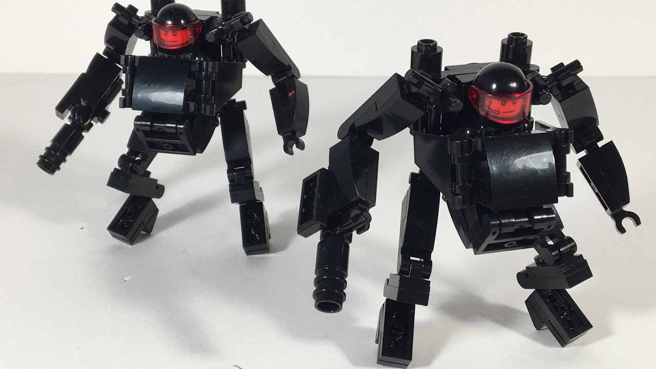 how to build a lego mech suit