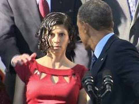President Obama catches fainting pregnant woman 'Good Catch'