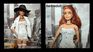 바비인형옷만들기(화이트 자켓)-barbiedoll, b…