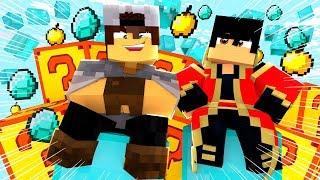 Minecraft: PARKOUR PVP - LUCKY BLOCK DE RICO!