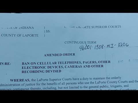 Laporte County Court/Clerk Audit! Camera 1 (Live)