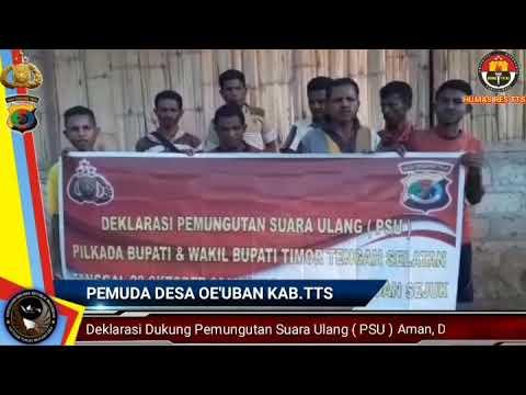 PEMUDA TPS 1 DESA OEUBAN DUKUNG PEMUNGUTAN SUARA ULANG PILKADA KAB.TTS 2018