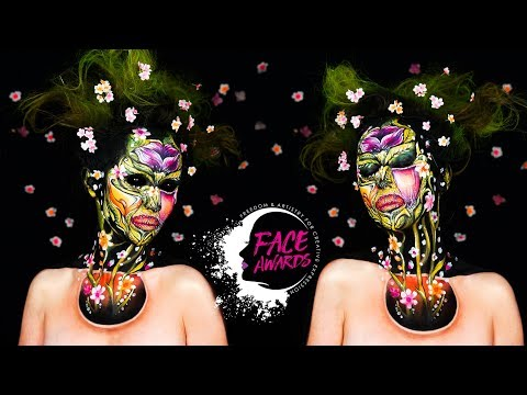 FACE AWARDS FRANCE 2018 / Challenge 2 / OPTICAL ILLUSION / Miss Flowers