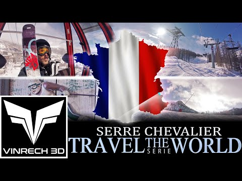 SERRE CHEVALIER in France - TRAVEL THE WORLD serie by VINRECH 3D