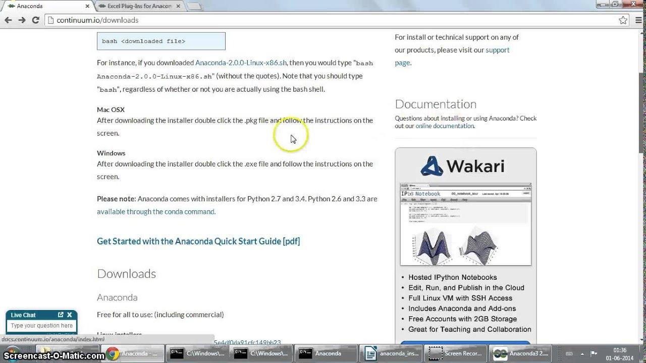 Installing anaconda 3 python 3 distribution on windows 7 for Windows distribution