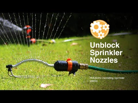 How to Clean Blocked Nozzles in the Holman Oscillating Sprinkler