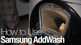 How to use Samsung's AddWash washing machine