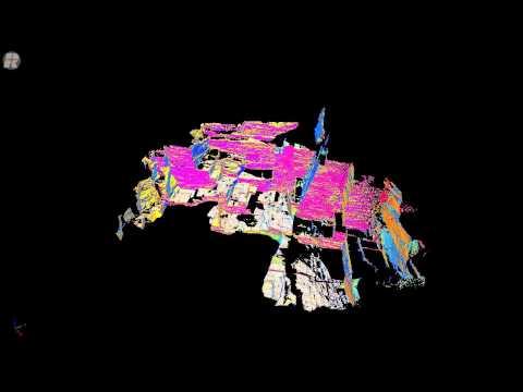 3D LiDAR Animation of an ancient roman quarry