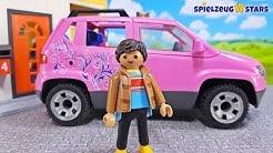 Playmobil Auto 9404 🌸 Pinker Familien Pkw SUV mit Parkbucht ⭐️ Spielzeug Stars