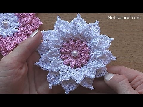 объемный цветок крючкомвязание крючком Youtube