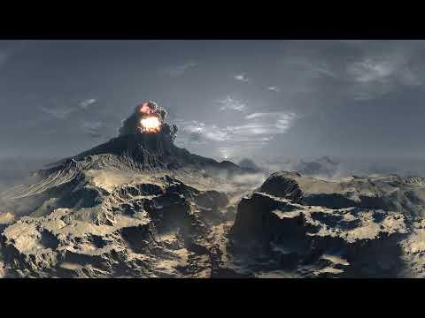Вулкан в Virtual Reality 360° 4K VR 3D видео для очков виртуальной реальности 360 TB