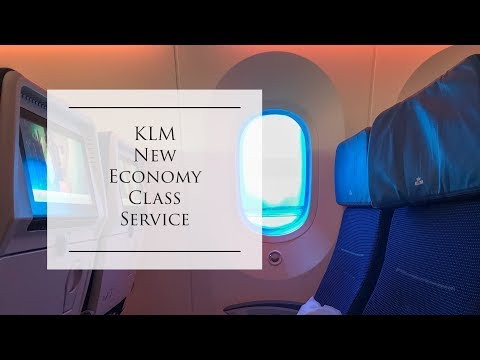 KLM | New Economy class service (2018) | B787 | Houston to Amsterdam