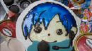 キャラケーキを作ってみた10【KAITO】 ウィザード ケーキ 検索動画 29