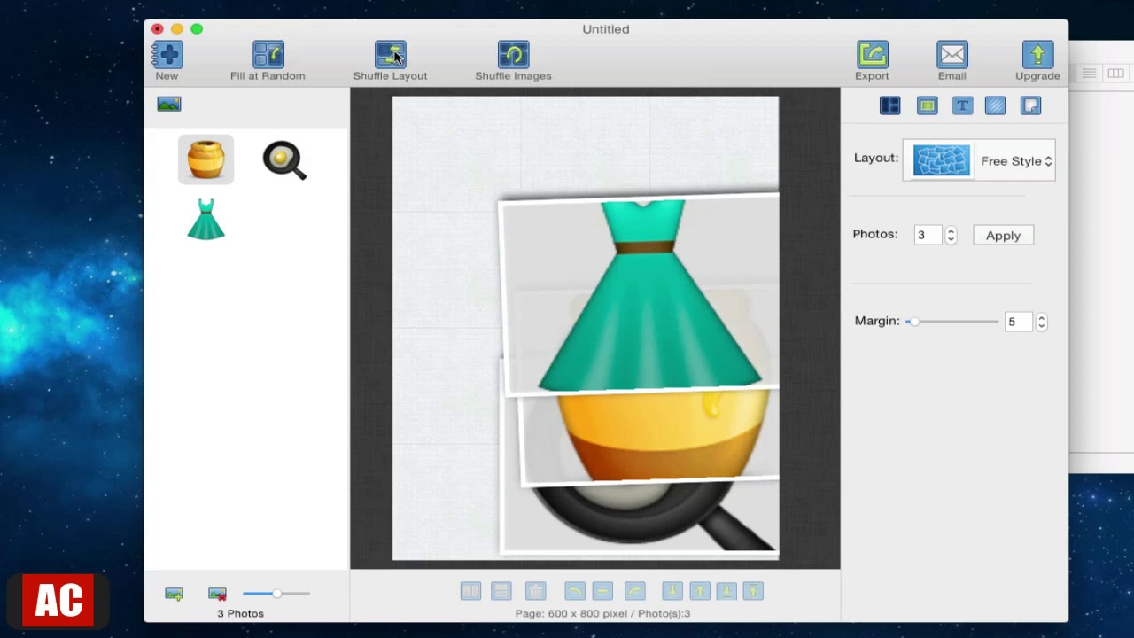 CollageFactory Free - Create Photo Collages on Mac - YouTube