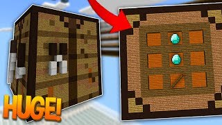 THE BIGGEST CRAFTING TABLE IN MINECRAFT?!