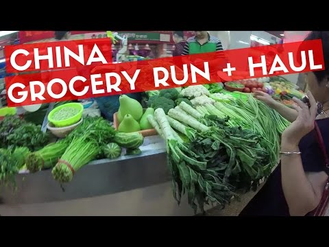 GROCERY SHOPPING IN NANJING, CHINA | Follow Me + Haul!