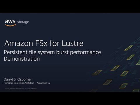 Amazon FSx for Lustre: Persistent Storage Overview