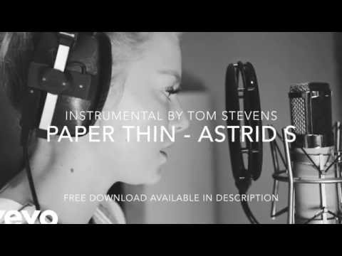 (Instrumental Backing)Paper Thin - Astrid S (Live Video/Acoustic Version) - [With Lyrics]