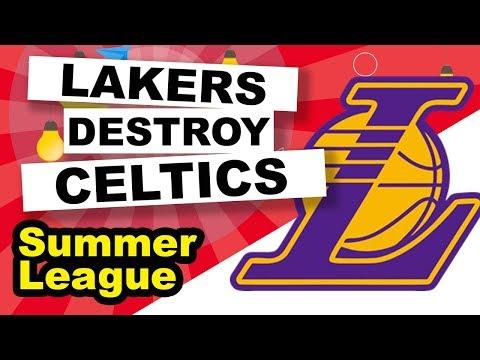 2017 Summer League Lakers vs. Celtics 4th quarter