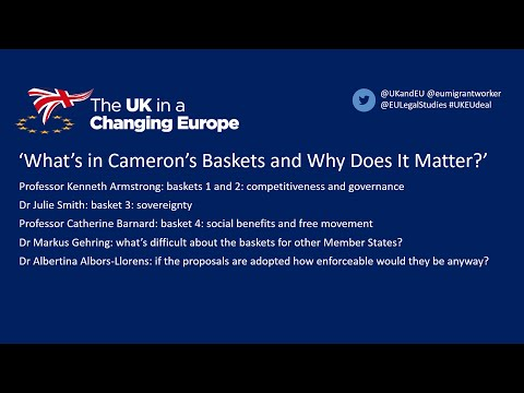 The EU Settlement: What's in Cameron's Baskets and Why Does It Matter?