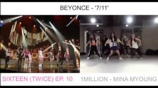 sixteen twice mina myoung 1million beyonce 7 11 dance