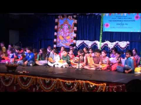 Guru Vandana 2016 - Students Chanting Sanskrit Slokas