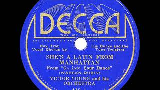1935 HITS ARCHIVE: She's A Latin From Manhattan - Victor Young (Hal Burke & Tune Twisters, vocal)