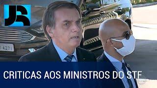 Presidente Bolsonaro Faz Críticas Aos Ministros Do Stf Alexandre Moraes E Celso De Mello
