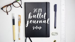 BULLET JOURNAL 2019 SETUP