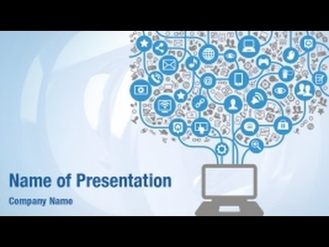 Social Computer Network PowerPoint Video Template Backgrounds - DigitalOfficePro #01270V