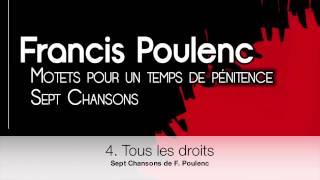 Sept Chansons de Francis Poulenc / Choeur Mélanges