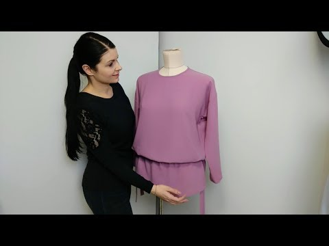 Блуза- туника на кулиске на любую фигуру