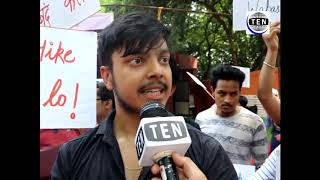 IP University students protest against colleges demanding Fees Arrears for 2015 onwards batches