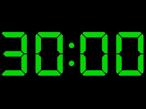 30 Minute Timer No Music with Alarm ⏰🔔 Timer Countdown 30 Minutes