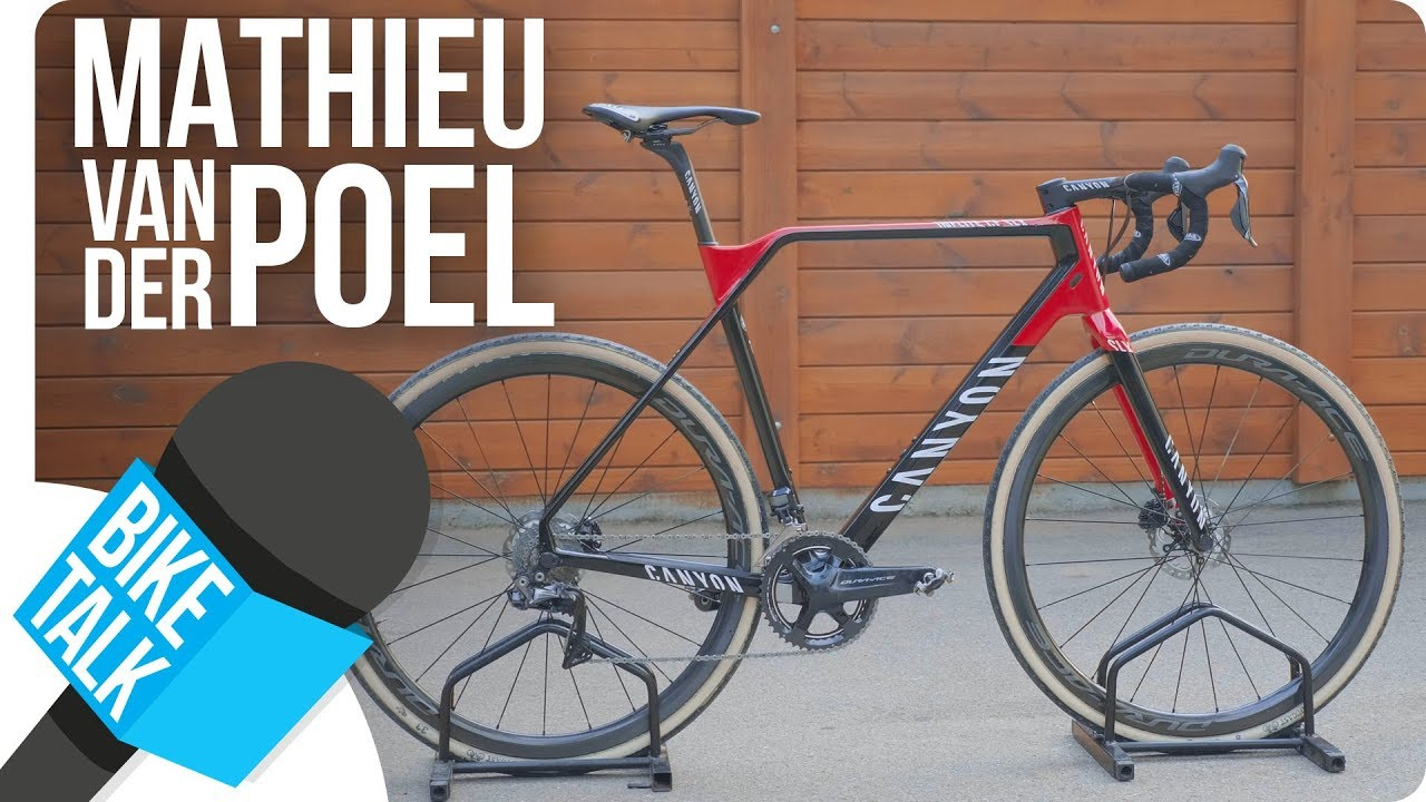 bike talk mathieu van der poel s new canyon inflite cf slx shimano