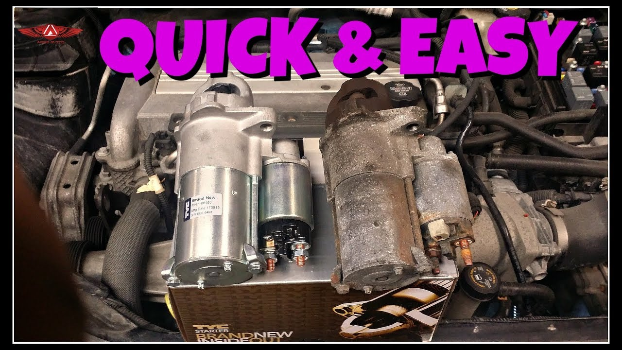 small resolution of chevy cobalt ss starter replacement
