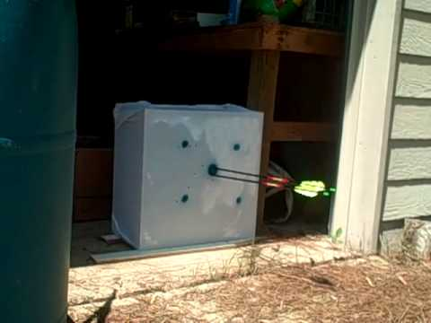 home made archery target - YouTube