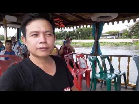 นั่งเรือชมบรรยากาศ แม่น้ำท่าจีนไปวัดไร่ขิง