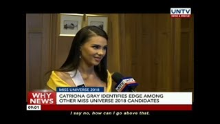 Catriona Gray identifies edge among other Miss Universe 2018 candidates