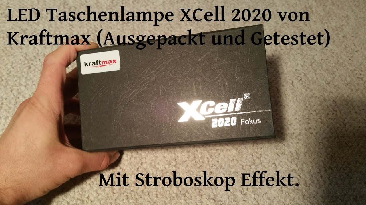 led taschenlampe xcell 2020 von kraftmax im test youtube. Black Bedroom Furniture Sets. Home Design Ideas